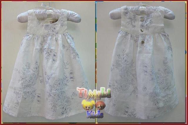 Đầm Linen hoa bé gái màu trắng sữa, hàng xuất Châu Âu, made in vietnam.
