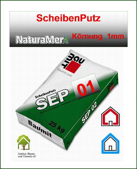Baumit-Scheibenputz-SEP-25kg-Edelputz-Kratzputz-Reibeputz-Oberputz-Bayosan