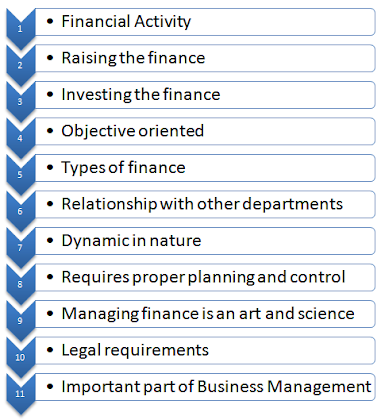 characteristics features of corporate finance