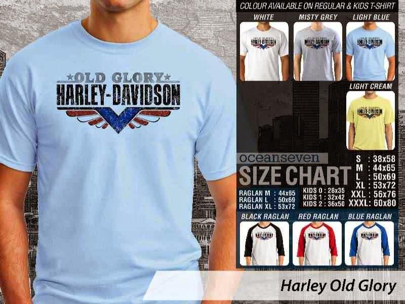 KAOS Harley Davidson 8 Logo Motor distro ocean seven