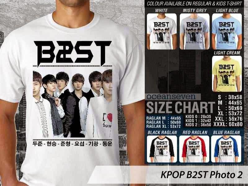 Kaos B2st 2 Photo K Pop Korea distro ocean seven