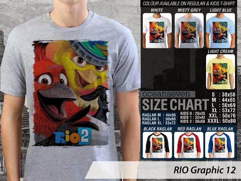 Kaos Film Animasi Lucu Desain RIO Graphic 12 distro ocean seven