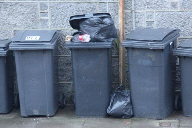 Contenedores de basura en Reino Unido