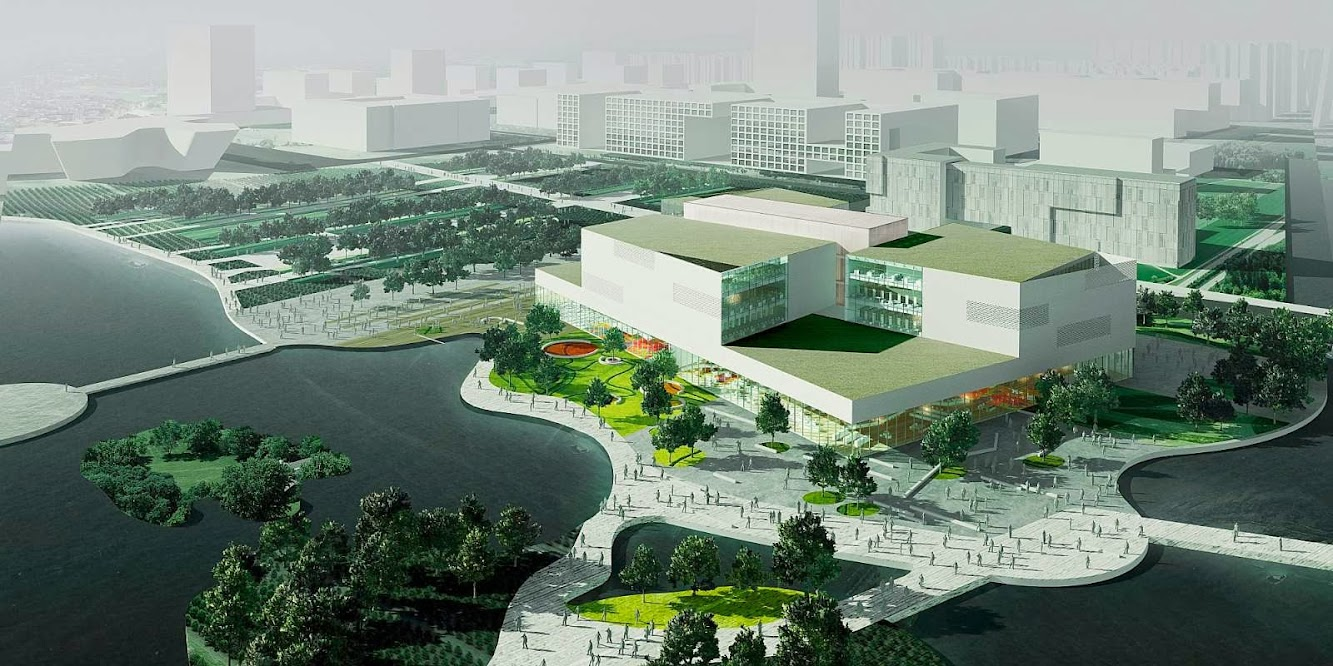 Ningbo New Library by schmidt hammer lassen architects