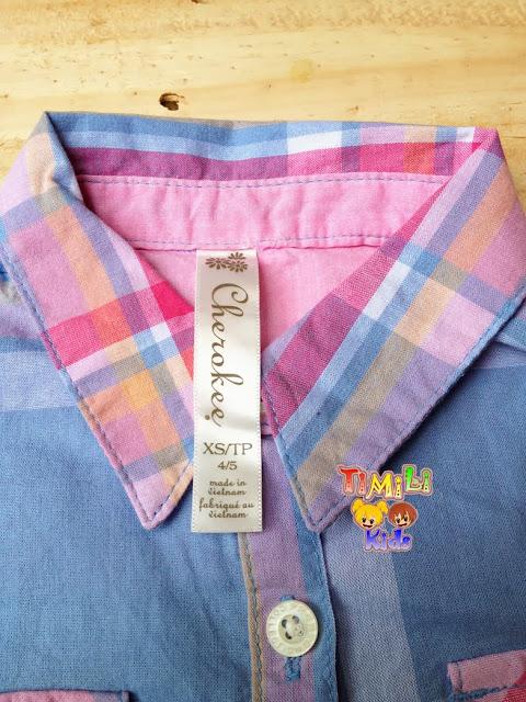 Áo sơ mi Cherokee, xuất xịn, made in vietnam, 100% cotton, sọc, size từ 4/5 đến 10/12.a