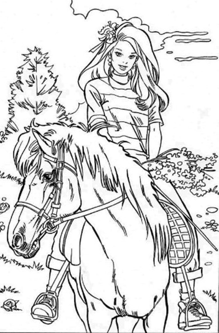 barbie coloring pages for kids - 4coloring free online coloring pages