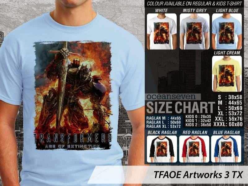 KAOS film Transformers Artworks 3 Transformers Age of Extinction distro ocean seven