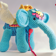 Amigurumi Elephant and Girl