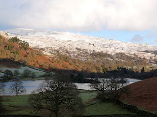 High Pike and Low Pike from south west side of Rydal Water
