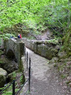 Bridge over Aira Force Waterfalls.