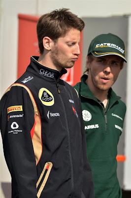 дующийся Ромэн Грожан и Шарль Пик на Гран-при Германии 2013