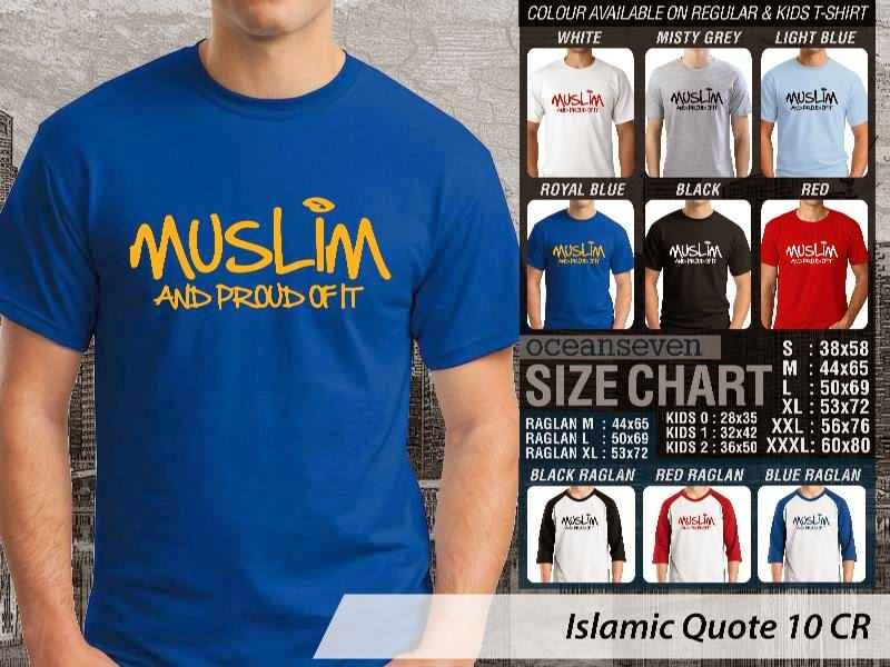 Kaos Islami Quote 10 Muslim and Proud of It distro ocean seven