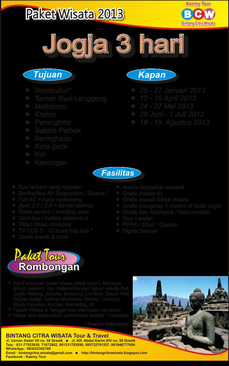 Paket Wisata 3 Hari 2 Malam Di Jogja Wisata Bogor