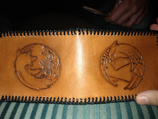 A hand-made leather wallet by my friend Joel Beck