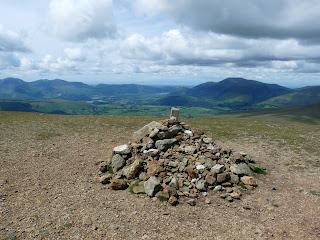 Great Dodd Summit with Keswick and area in full view.