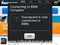 Foursquare with BBM Social platform