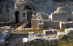 Probably the biggest archaeological attraction in Albania - the ruins of Butrint. The oldest ruins are some 2500 years old. Here is Sanctuarium of Asclepius (III Cent. BC)