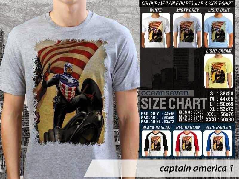 Jual Kaos Captain America 2 Amazing Superhero