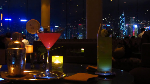 Great drinks and an awesome view at The Intercontinental Lobby Bar.