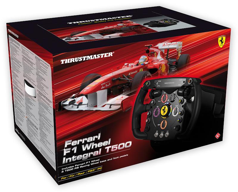 коробка от руля для видеоигр Thrustmaster Ferrari F1 Wheel Integral T500