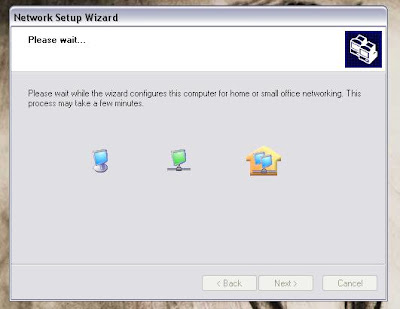 XP network wizard automatically configuring image