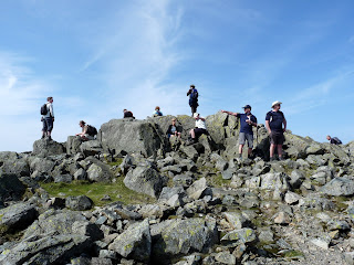 A busy Great Gable Summit. I am not surprised really as it was a great day for walking.
