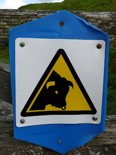 Beware of the Bull!!! This was on the other side of the gate as we passed through!! We saw no Bulls though!