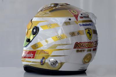 шлем Фернандо Алонсо для Гран-при Монако 2012 - вид слева