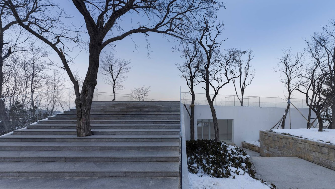 Viewing Pavilion on Hill by Tao Trace Architecture