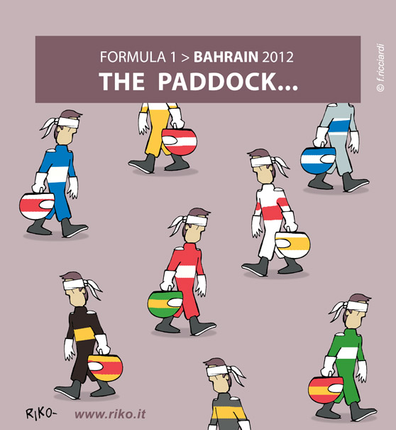 комикс Riko про паддок на Гран-при Бахрейна 2012