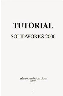 TUTORIAL  SOLIDWORKS 2006,Sách Cad Cam, Solidworks 2006, sách cơ khí