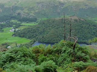 First view of Thirlmere from Raven Crag