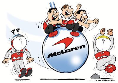 маятник качнулся в сторону Льюиса Хэмилтона - комикс Jim Bamber по Гран-при Канады 2012