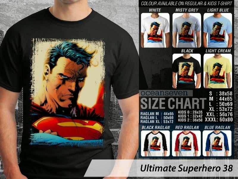 Kaos Superman Hitam 38 Ultimate Superhero distro ocean seven