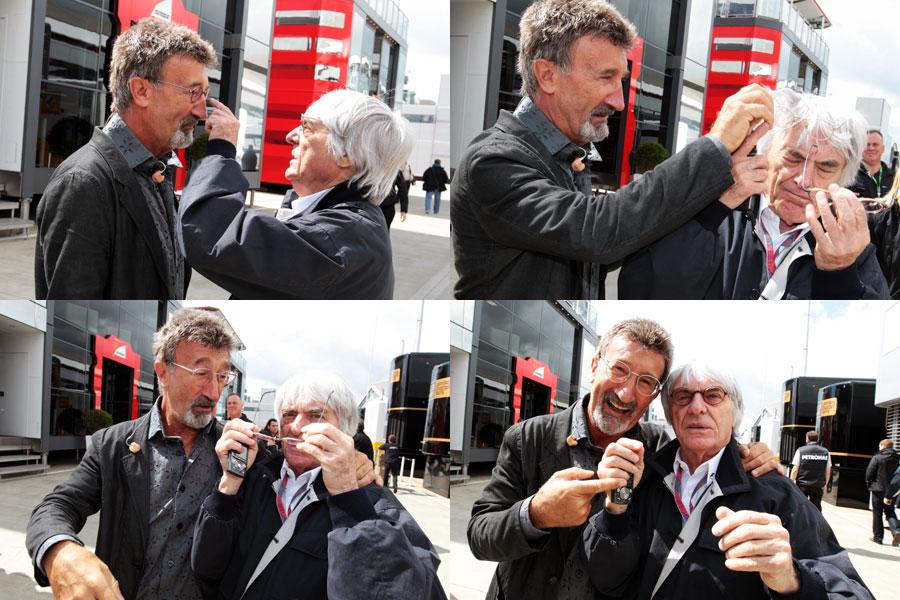 схватка Эдди Джордана и Берни Экклстоуна за очки на Гран-при Великобритании 2011
