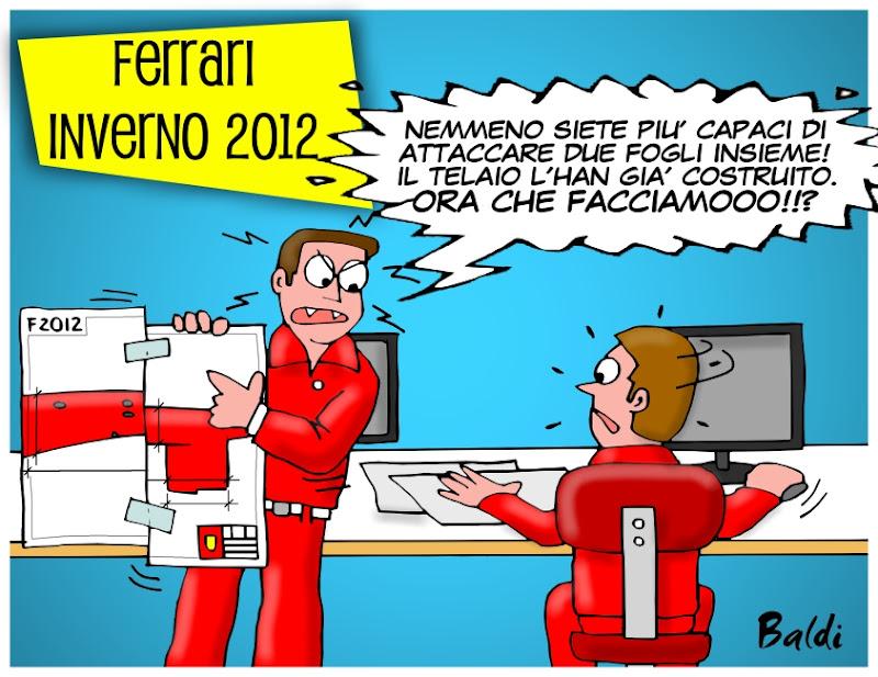 механики Ferrari изобретают ступенчатый нос - комикс Baldi