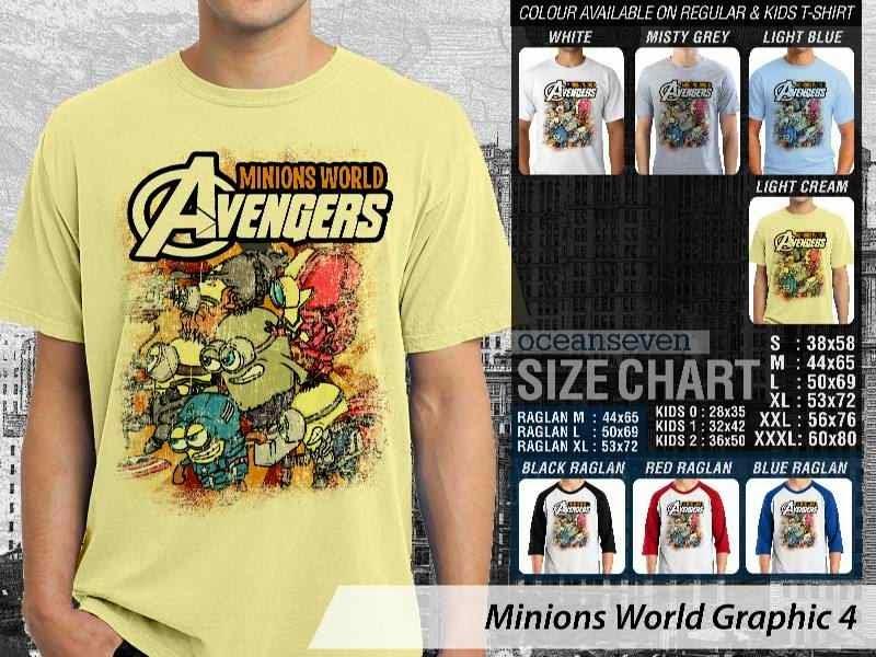 KAOS Minions Despicable Me Avengers 4 Film Lucu distro ocean seven