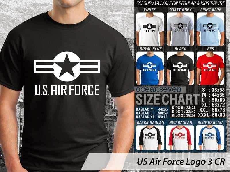 KAOS Militer US Air Force Logo 3 distro ocean seven