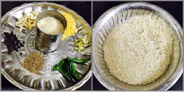 Millet Pongal Recipe (Varagu Pongal / Kodo Millet Kara Pongal) 2