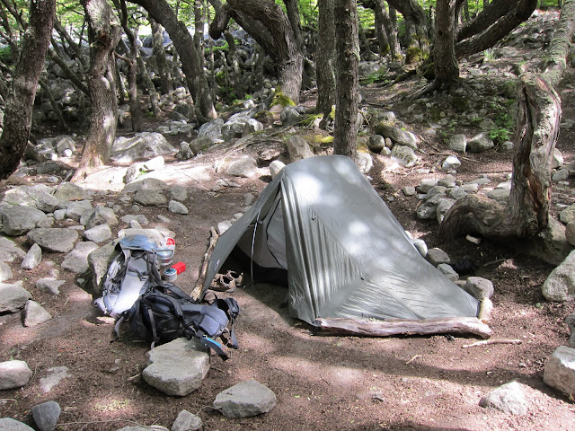 Our home on the trail... we love our little tent!