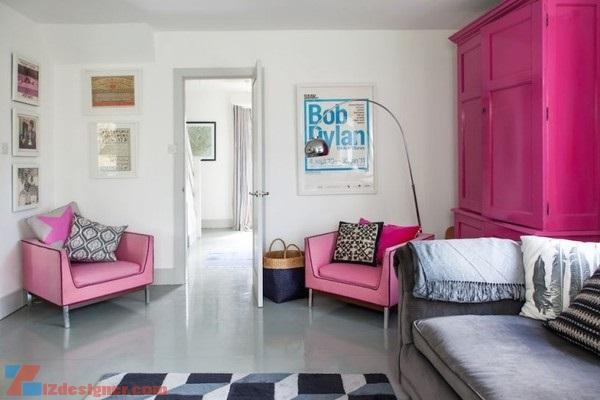 Kết hợp màu sắc cùng Đen và Trắng trong thiết kế nội thất