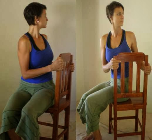 Office Yoga Moves For A Better Posture - The Twist