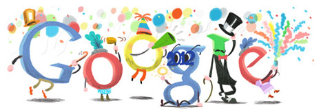 Google Doodle New year 2012