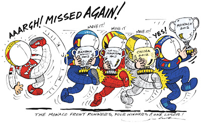комикс Jim Bamber по Гран-при Монако 2012