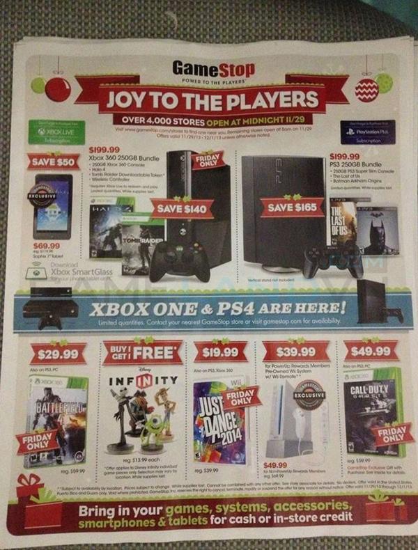 Lộ bảng giá khuyến mãi của GameStop dịp Black Friday 1