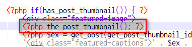 Notepad++에서 \<\?php the_post_thumbnail(); ?> 검색 결과