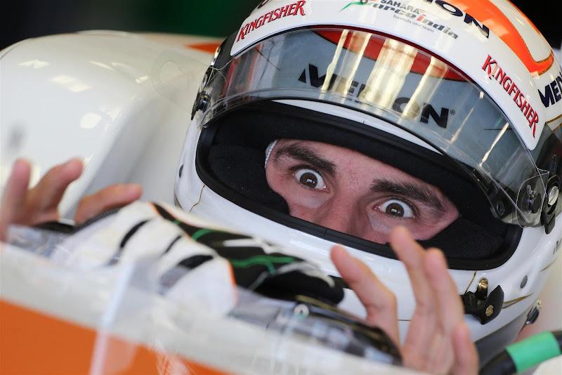 Адриан Сутиль в кокпите Force India на Гран-при Австралии 2013