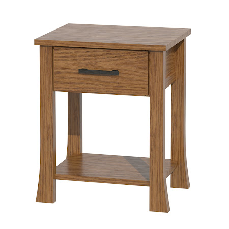 Palermo Nightstand with Shelf, Medium Oak