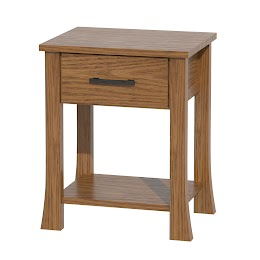 Palermo Nightstand with Shelf