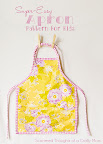 childs apron and free pattern